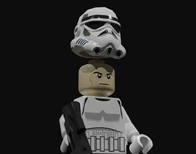 Lego stormtrooper 3D asset