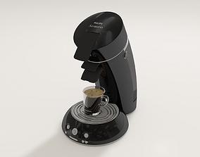 3D senseo Coffee machine black