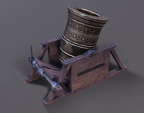 3D model Mortar canon lowpoly
