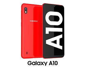 Samsung Galaxy A10 Red samsung 3D