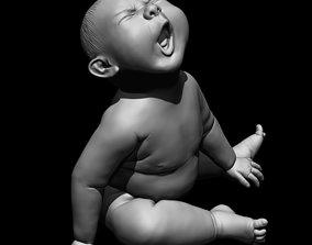angry Angry baby 3D print model