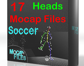 3D model 7-Soccer football motion capture animations - 1