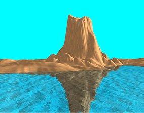 Volcanic Island 3D model