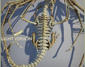 3D asset Bones Dragon Light Version