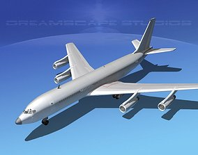 3D Boeing 707 Bare Metal
