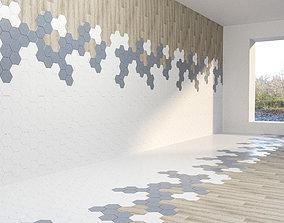 combined floor tile laminate decor interior 3D