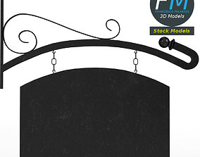 3D Curved hanging sign