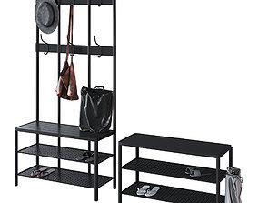 Ikea Pinnig Hanger with shoe section 3D model