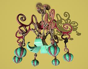 Flower chandelier 3D model