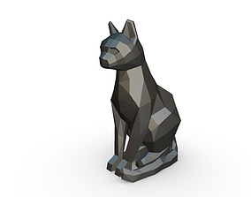 Cat sitting figure 3D printable model