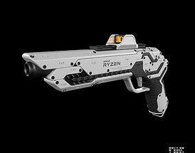 Sci-fi concept Pistol 3D