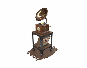 Antique Gramophone 3D model