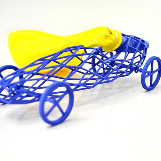 Balloon toy car