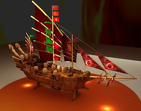 Chinese dragon ship 3D model