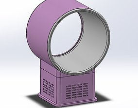 Bladeless desktop fan air multiplier 3D printable model