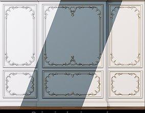3D asset Wall molding 6 Boiserie classic panels