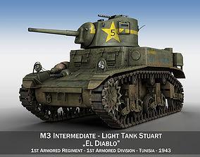 M3 Light Tank Stuart - El Diablo 3D model
