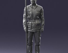 Man in military uniform 0116-10 3D Print Ready army
