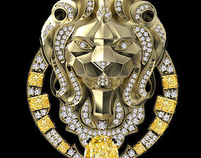 brooches lion chanel 3D print model