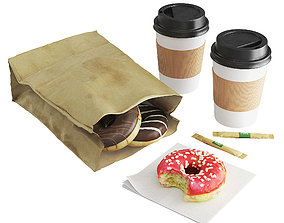 Donuts with Coffee To GO 3D