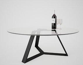 glass 3D Modern Table