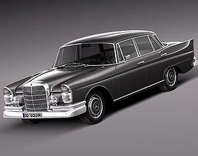 3D model Mercedes-Benz 300SE W112 1961-1965