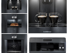 3D model Gaggenau kitchen appliance