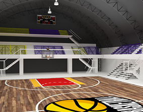 ballgame Basketball Gym Covered 3D model