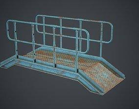 3D asset Industrial Metal Platform 2 PBR Game Ready