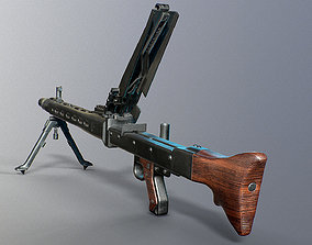 3D model low-poly MG-42
