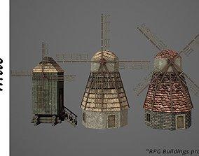 3D model game-ready PBR Windmill