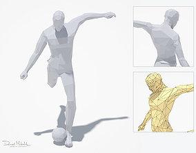 3D asset Football Man Sport Pose
