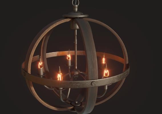 Loft chandelier