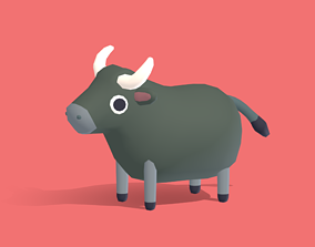 Bluff the Buffalo - Quirky Series 3D model