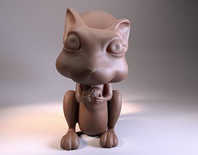 3D printable model Squirrel cartoon