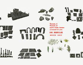 3D model game-ready ruin set 1