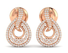 Women earrings 3dm stl render detail platinum