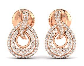 Women earrings 3dm stl render detail platinum