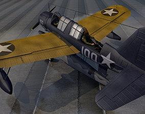 3D Vought OS2U Kingfisher