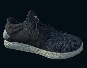 Trainers blue grey 3D model runner