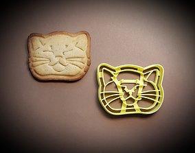 3D printable model Sleepy cat cookie cutter