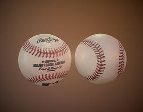 realtime Baseball ball 3d model