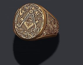 3D printable model Freemason ring
