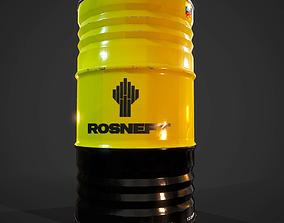 Barrels Lukoil 3D asset