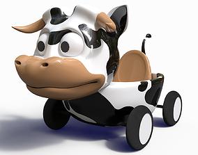3D model game-ready Cow Car