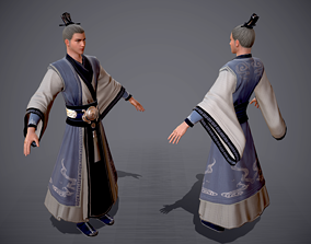 Ancient Chinese Taoists priest Ancient costume 3D asset