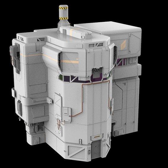 sci-fi Architectural element 8