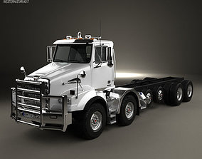 Western Star 4800 SB TS Day Cab Chassis Truck 3D model