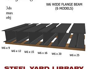 3D W6 Wide Flange Beam