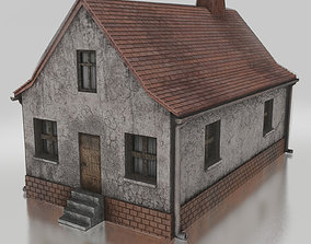 Old Village House 01 Game Ready 3D asset game-ready